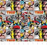 Fat Quarter Marvel Comics Thor Baumwolle Quilten Stoff Camelot Stoff