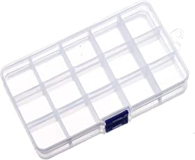 House of Quirk Plastic Jewelry Storage Box (Clear)