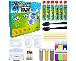 Desire Deluxe Kit Slime Fai da te Slime Lab Set completo Gioco Scienza per bambini età 4 5 6 7 8 9. Laboratorio Slime Ingredi