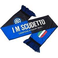 Inter Sciarpa I M Scudetto 20-21, Campioni d'Italia, Poliestere, Unisex Adulto, Nero/Blu, Taglia Unica