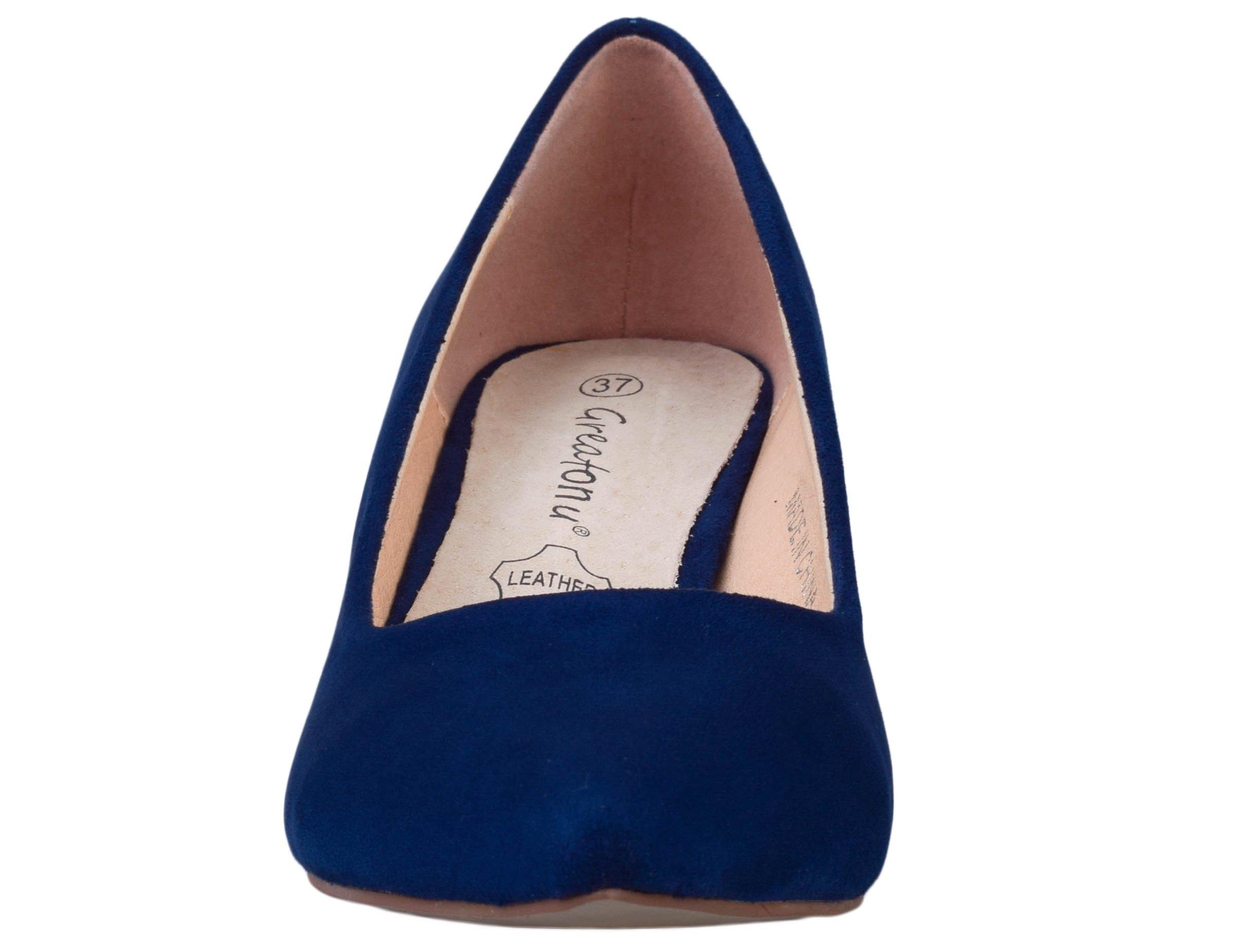 Greatonu Zapatos de Tacón de Aguja Puntiagudo Punta Cerrada Diseño Elegante Modo para Fiesta y Boda para Mujer