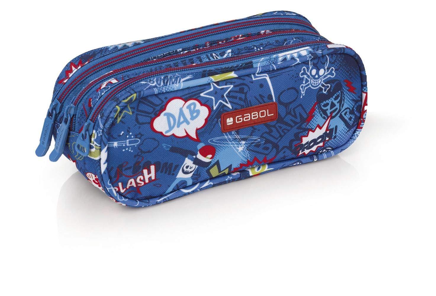 Gabol Portatodo Triple Bang Mochila Infantil, 22 cm, Multicolor