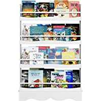 Sturdy Kids Bookshelf for Sorting Picture Books Newspaper for Home Kindergarten Colourful 4-Layer Children Kids Bookcase Durable Washable Wood Polyester Fabric Bookshelf Large Home Stuff Organiser