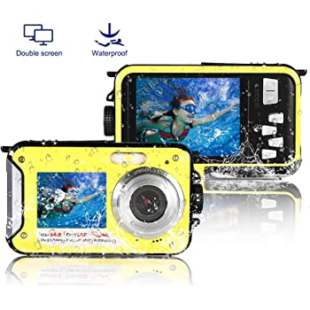 Underwater Camcorder Camera FULL HD 1080P for Snorkelling 24.0 MP Waterproof Point and Shoot Digital Camera Dual Screen Action Camera