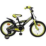 Amigo BMX Turbo - Kinderfiets 16 inch - Voor jongens van 4 tot 6 jaar - Met V-brake, terugtraprem, fietsbel en zijwieltjes -