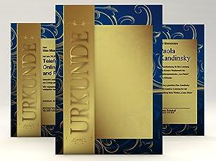 Urkundenpapier Gold, 10 Blatt für Zertifikate DIN A4, 190g/qm