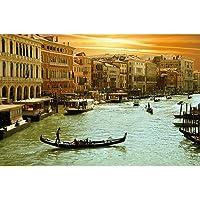 Pitaara Box Engineered Wood Venice Grand Cana Painting, Multicolour, 18.2Inch x 12Inch