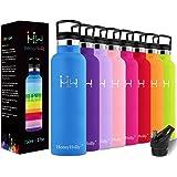 HoneyHolly Bottiglia d'Acqua in Acciaio Inox 350ml, Isolamento Sottovuoto a Doppia, Bottiglia per Acqua Senza Bpa, Borraccia