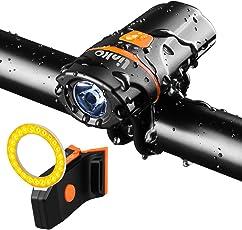 Fahrradlicht LED Set, Linko USB Wiederaufladbare Fahrradlampe Set mit 6 Licht-Modi,IP65 Wasserdichte Fahrradlicht Set Superhelle,Fahrradbeleuchtung mit 1200mAh Li-Battery, Frontlicht und Rücklicht Kombination für Nachtfahrer,Radfahren und Camping