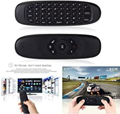 MSE Mini Air Mouse Wireless Game Keyboard Android Remote Controller Rechargeable (Mini 2.4Ghz Keyboard for Smart Tv-S1, Black)