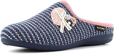 Valleverde 22132 pianelle Pantofole Donna Blu Panno