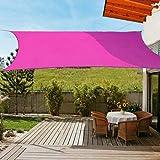 OldPAPA Luifel rechthoekig zonnescherm blok 95% UV waterdicht tuin balkon zwembad lichtgewicht overkapping met gratis touw ro