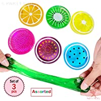 Party Propz Fruit Slime Kits, Crystal Slime Putty Magic Clay Plasticine Rubber Mud Plus Foam Balls,Fruit Slices Gift Toys for Girls/Kids DIY Party Favors