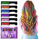 Kalolary 6 Colores Tizas Para el Pelo, Hair Chalk Peine de tiza para el pelo, temporal, no tóxico, para niños, ideal para Nav