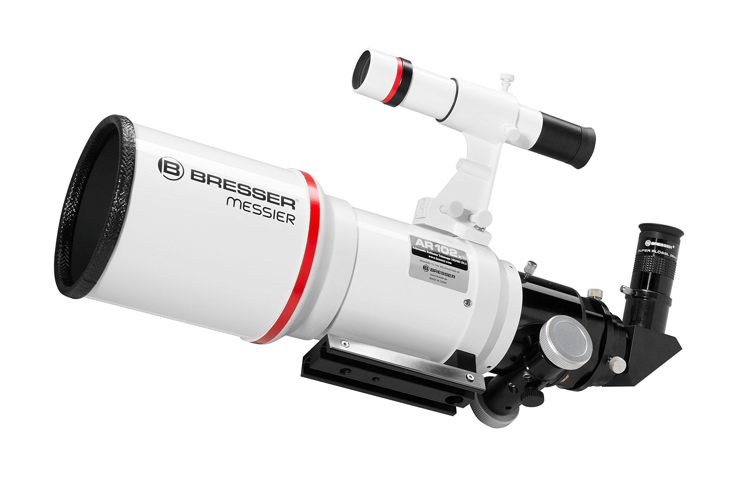 Bresser Refractor Messier AR-102xs/460 Telescope with Hexafoc Focuser - White