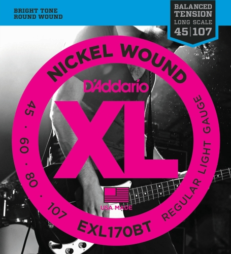 D'Addario EXL170BT E-Bass Saiten Satz Bass 045 - 107 Balanced Tension