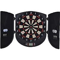 HOMCOM Elektronische Dartscheibe Dartboard Dart-Set mit 6 Darts Schwarz+Orange 26 Spiele und 185 Trefferoptionen für 8…