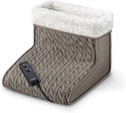 Beurer FWM 45 Fußwärmer mit Massage (Wärme und Entspannung für beanspruchte Füße mit weichem Teddy-Futter)