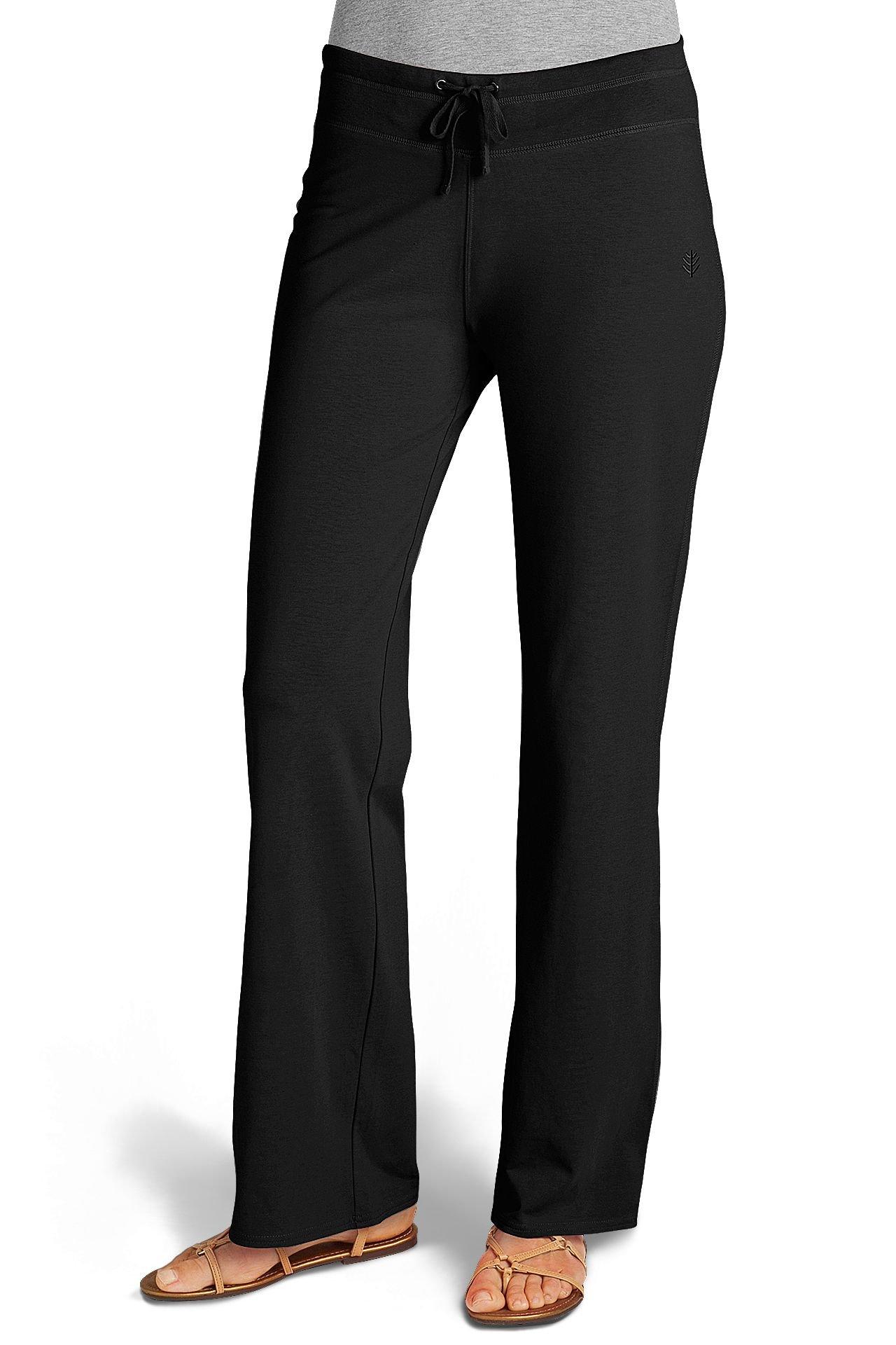 Coolibar Damen Strandhose UPF 50 Plus, Black, XXL, 01249-BL