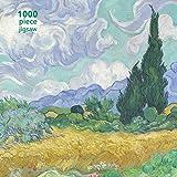 Adult Jigsaw Vincent van Gogh: Wheatfield with Cypress: 1000 piece jigsaw (1000-piece jigsaws) (1000-piece Jigsaw Puzzles)