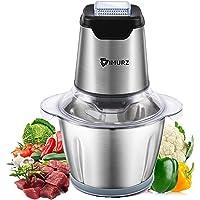 Hachoir Électrique 600W,Mini Broyeur d'aliments électrique avec Bol en Acier INOX 1.2L,4 Lames en inox,Robot culinaire…