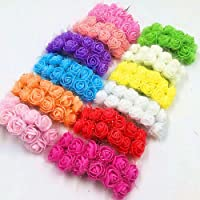 D'Lush designs Delush Design Artificial Foam Flowers Jewellery Craft Decoration -(Pack of 144 pcs, Assorted Multi)