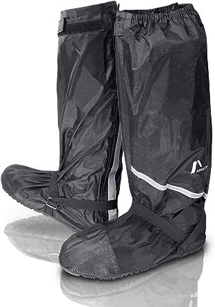 Amazy Copriscarpe impermeabili Incl. sacca portaoggetti gratuita - Copriscarpe pioggia, antiscivolo e impermeabili muniti di riflettori – uso notturno per bici, moto con pioggia e neve.