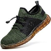 COOU Scarpe Antinfortunistiche Antiscivolo S3 Scarpe da Lavoro con Punta in Acciaio Sneaker da Lavoro Leggere Uomo Donna