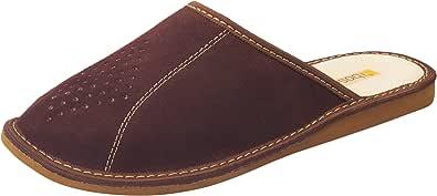 Bosaco Pantofole Scamosciate Vera Pelle Uomo M029