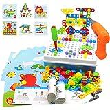 Akokie Juguetes Montessori Puzzles Rompecabezas Bloques Construccion Niños con Taladros Juegos Educativos Regalos Juguetes pa