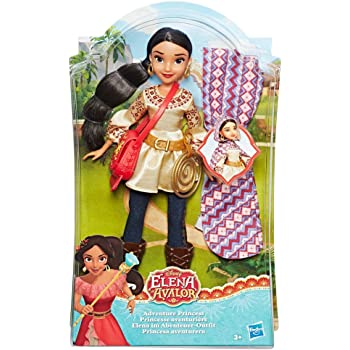 Hasbro Disney Elena of Avalor - Bambola Elena di Avalor Avventuriera Fashion Doll, c0378eu4