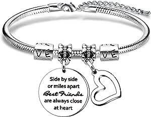 Braccialetto con ciondolo in argento per donna, ragazza, regalo di compleanno