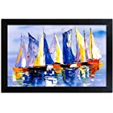 Home Attire HAP-1112 Sailer Boat Painting, 12x18 inch