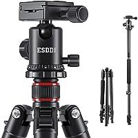 ESDDI Kamera Stativ 162cm Aluminiumlegierungen Stativ mit Einbeinstativ und 360° Kugelkopf Reisestativ Fotostativ für…