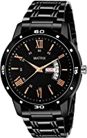 Matrix Premium Day & Date Black Dial Watch for Men's & Boys (DD-53)