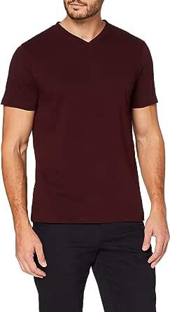 MERAKI Men's Slim Fit V-Neck T-Shirt, Organic Cotton