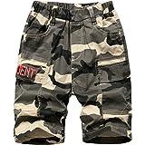 LAUSONS Pantalones Cortos Cargo para Niños Bermudas Camuflaje