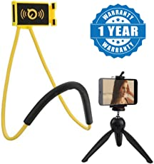 captcha Universal Lazy Hanging Neck Phone Holder with 228 Portable Mini Tripod Rotation Stand Compatible with All Smartphones and Camera