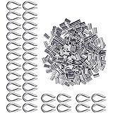 100 stuks aluminium hulzen clips + 30 stuks kabelkabelkabelkousen met een diameter van kabelklemmen voor expanderkabel, rubbe