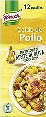 Knorr Caldo de Pollo con Aceite de Oliva Virgen Extra, 12 Pastillas