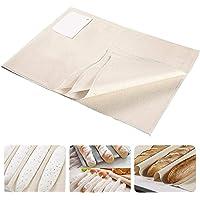 Toile de boulangerie, tissu en lin pour la fermentation du pain, la cuisson de la pâte, plateau / tapis à baguettes…