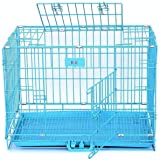 RvPaws Powder Coated Iron Cage with Removable Tray for Dog (36-inch, Large Blue)
