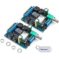 Innovateking-EU 2 Pezzi Scheda Amplificatore Digitale, TPA3116D2 Amplificatore subwoofer Digitale ad Alta Potenza a Due…