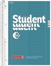 Brunnen 1067974 Notizblock/Collegeblock Student Duo (A4 liniert (Lineatur 27, Lineatur 28) 70 g/m² 40 Blatt liniert, 40 Blatt kariert)