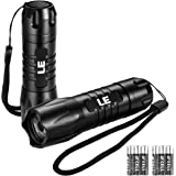 LE Superhelle LED Mini Taschenlampe, LED Handlampe IP65 Wasserfest, Inklusive 6 AAA Batterie, 2er Pack