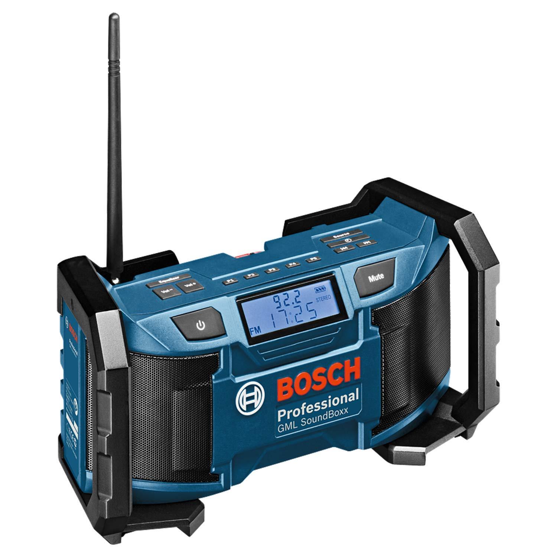 Bosch Professional GML SoundBoxx 18V System Akku Baustellenradio (Aux-In, ohne Akkus und Ladegerät, im Karton)