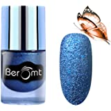 Beromt Premium Sand Matte Nail Polish, Color Crush, Show Bright Sparks, Extra Shine 7 Day Stay, Blue, 609, 10 ml
