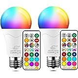 iLC 85W Equivalente Lampadine Colorate Led RGBW Cambiare colore Lampadina E27 Edison RGB LED Lampadine Led a Colori Dimmerabile Telecomando Incluso