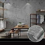 Zelfklevend behang, betonlook, behang, pvc, waterdicht, 10 m x 0,6 m, retrostijl, vintage, behang, betonlook, plakfolie, muur