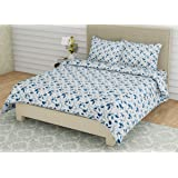 Linenwalas King Size Bed Sheets with Pillow Covers   300 TC Premium Cotton Bedsheet Easy Wash Soft Sateen Weave 108x108…